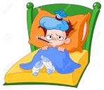 11376105-Sick-kid-lying-in-bed-Stock-Photo